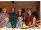 Some Chatteris ladies at the Baptist Women's league Anniversary Dinner, 1986