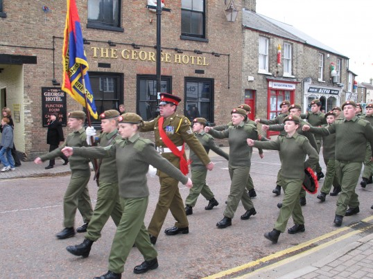 Remembrance Parade, Chatteris. Photo supplied by Fred Payne.
