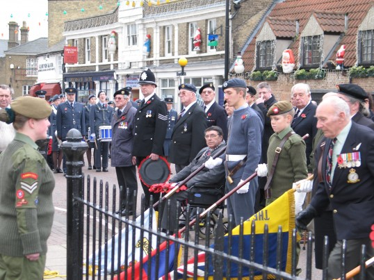 Remembrance Sunday at Chatteris War Memorial.