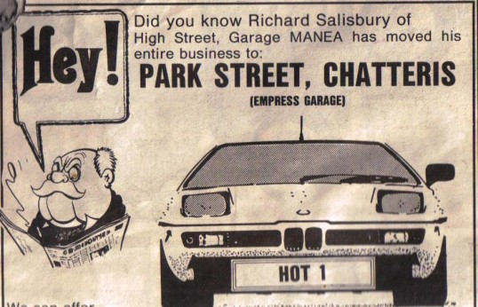 Advertisement for the Empress Garage in Park Street Chatteris.