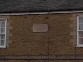 Plaque on cottages along London Road, Chatteris- Seymour Place.