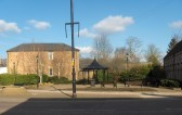 """View of Chatteris bandstand with """"The Gables"""" home for the elderly to the right. Bandstand area is where  Dr Nix's house was formerly situated."""
