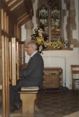 Mr Weedon plays the organ at Chatteris Parish Church's flower festival. ( Photo courtesey of L Oakey)