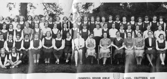 Girls at Cromwell School, Chatteris. 1939 (Picture 3)supplied by R Stimpson