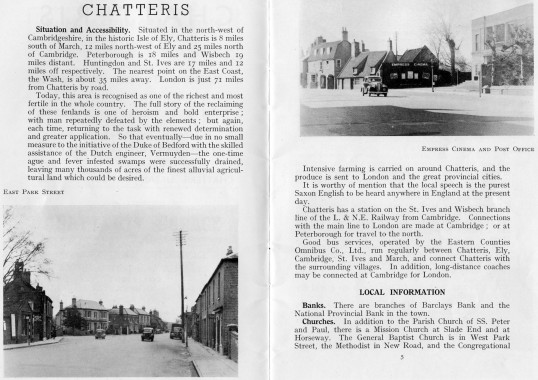 Pages from Chatteris Town Guide