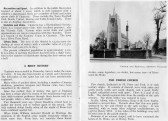Pages from the Chatteris Town Guide published by the Home Publishing Company. Photograph features the parish Church St Peter & St Paul.