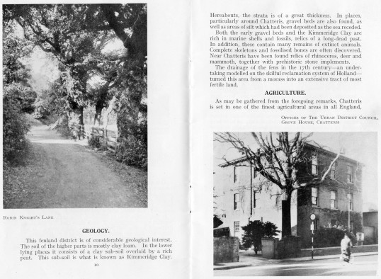 Chatteris Town Guide published by home Publishing co. featuring photographs of Grove House, High street and also Robin Knights Lane.