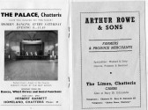 Pages from Chatteris Town Guide featuring advert from A Rowe, The Limes, London Rd & Herbert Barrett owner of the The Palace, Market Hill, Chatteris.