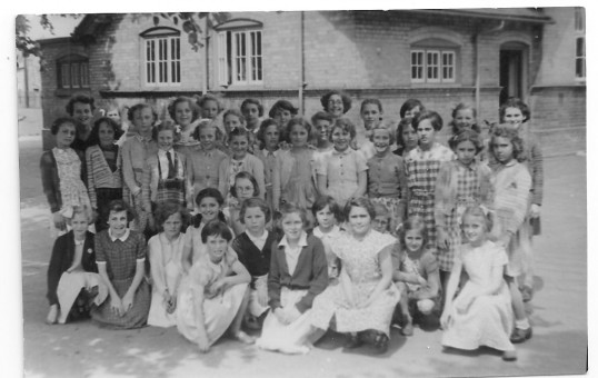 Girl pupils at King Edward School, Chatteris.Photo courtesy of Mrs Dordery.