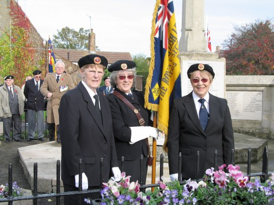 Chatteris Royal British Legion members with flag at the War Memorial Market Hill Chatteris. Photo kindly supplied by Fred Payne.