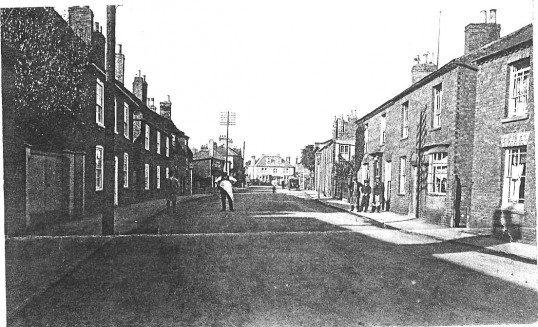 West Park Street Chatteris. Exact date not Known.  Photograph with thanks from L Oakey's scrap book.