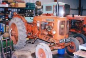 1955 Nuffield Tractor being restored.Original purchase price £650.Owned by Mr Wade, Chatteris.