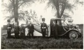 Parade float in Chatteris thought to be celebrating the Coronation of King George VI