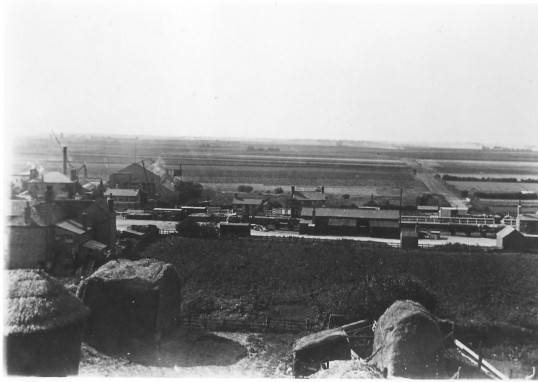 View to west of Chatteris with Chatteris Engineering Works to left, taken from top of mill in Station Street. Photo supplied by L Oakey