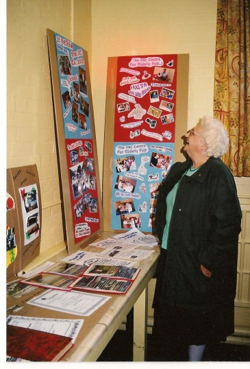 Admiring exhibits at the King Edward School building Centenary Celebrations in Chatteris. Building is now known as the King Edward Community Centre.