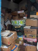 Items stored inside the premises of Fenland Removals, High Street/ New Road corner, Chatteris.