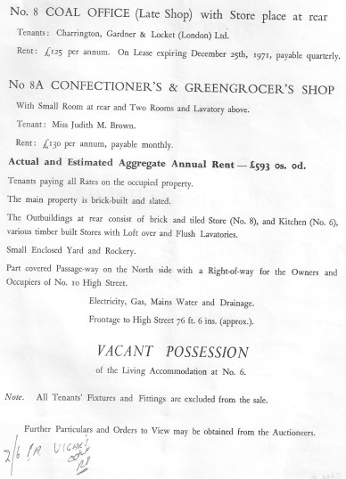 Auction catalogue for sale of properties on Chatteris High Street. (Page 3)