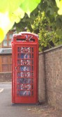 Red Telephone box in Wood Street Chatteris decorated to celebrate the wedding of Prince William to Catherine Middleton ( Duke & Duchess of Cambridge)