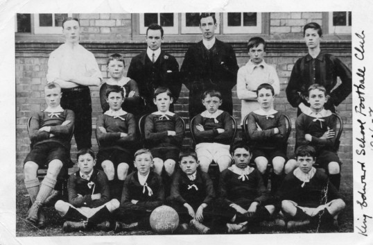 Chatteris King Edward School Football team 1906-7