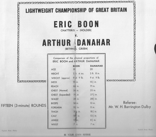 Details about Eric Boon,Chatteris boxing Champion, before his fight against Arthur Danahar in Haringay Arena.