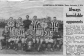 Newspaper cutting contributed by P Gowler about football match between Chatteris Engineers and March for the Cottenham Cup in 1921.