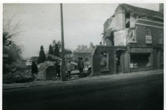 Demolition of the shop