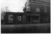 """Masons"" furniture store in the High Street, Chatteris, partly demolished.Photo courtesy Pam Heaps."