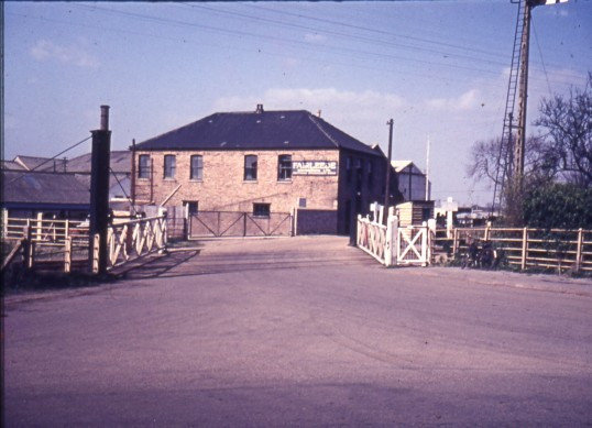 Fairleede Engineering Works and the station road rail crossing, Honeysome Rd,Chatteris.Photo Courtesy of R. Edwards.