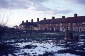 Southampton Place, London Rd, Chatteris. Photo taken from rear gardens. Cottages have since been demolished. Photo courtesy R.Edwards.