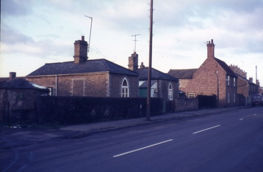Cottages on London Road, Chatteris, reputedly built of stone from  Chatteris Abbey, These cottages have been demolished. Photo courtesy of R Edwards.