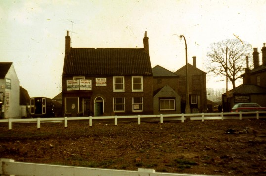 Tucker's premises,Chatteris High St. Later demolished to make way for Pricerite supermarket. Next-door is Cole's works. Photograph courtesy R Edwards.