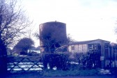 A water tower which once stood on the west side of London Road,Chatteris, Gate in photo is now site of entrance to Whitemill Road. R Edwards photo.