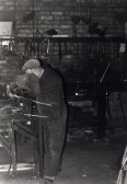 Blacksmith at work in his forge which was located off Railway Lane in the area now known as Old Forge Gardens Chatteris. Photo courtesy of T Calvert.