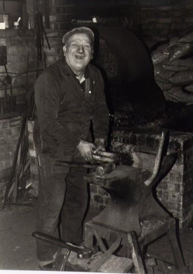 George Barratt, Chatteris blacksmith.  Photo courtesy of T Calvert.