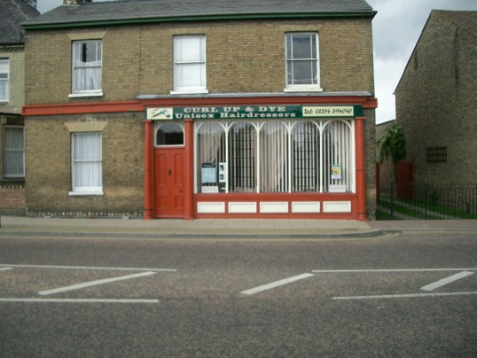 Hairdressers in Park Street, Chatteris.  Previously Dwellys Chemist.