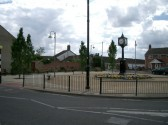 The Clock Tower & Community Gardens situated at junction of High Street & Railway Lane, Chatteris.
