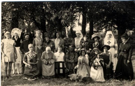 Group in fancy dress,Chatteris