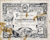 Company of BP Girl Guides Certificate-1915,Chatteris.