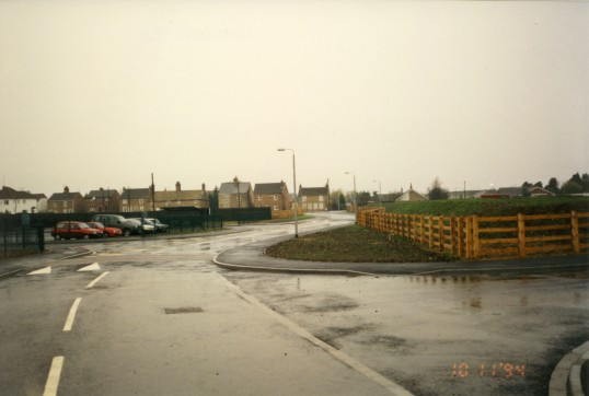 Glebelands school site, Chatteris , before  construction work (on the right), in Farriers Gate, Chatteris