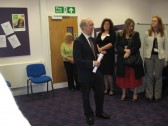 The Opening of  'Vermuyden Room' Chatteris Library, with speaker  Chris Heaton, Support Services, Office of Environment and Community Services at CCC