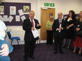 Official Opening of 'Vermuyden Room' at Chatteris Librarywith a speech from Fenland District Councillor Allan Melton