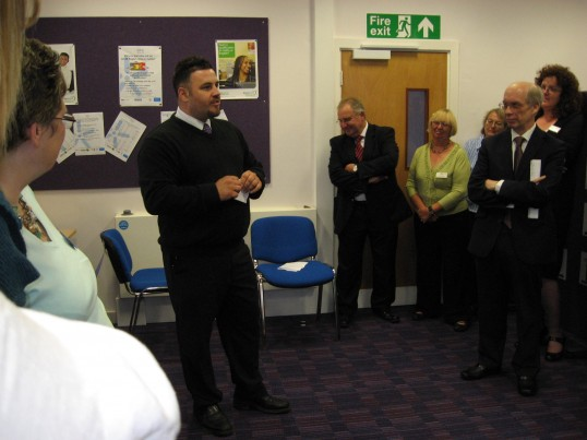 Councillor Mark Petrou about to officially open the 'Vermuyden Room' at Chatteris Library with a speech to the visitors