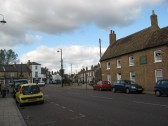 View of East Park Street, Chatteris, looking towards Market Hill.'The Gables' care home is situated on the right of East Park Street