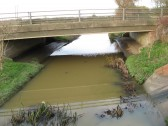 Chatteris Road Bridge over 20ft Drain (The Gault),  carrying A141 ,taken from Bartlett site looking  West