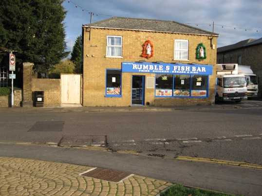 Opened September 2008, Rumbles Fish Bar, on the corner of Victoria Street and West Park Street opposite Huntingdon Road Chatteris