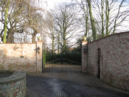 Magnificent Gates and Walled entrance to the Old Rectory, in Church Lane Chatteris.