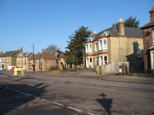 East Park Street looking towards  Saint Martins Road Chatteris, on the right. Victoria House stands on the corner
