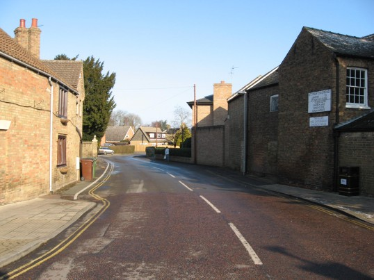 Looking down Saint Martins Road, Chatteris and towards Church Walk on the left hand side