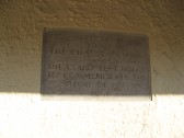 Plaque/tablet on the wall inside the bus shelter in East Park Street , Chatteris with an inscription to Commemorate The Festival of Britain 1951