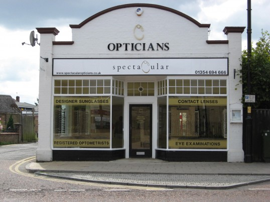 Chatteris Opticians, 'Spectacular' situated in the High Street.